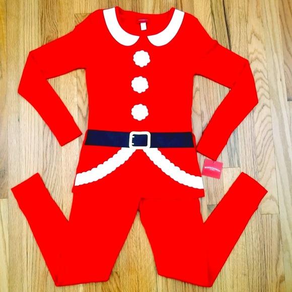 Target Womens Red Santa Claus Christmas Pajamas S